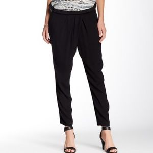 Michael Stars Pleated Black Wrap Front Pant S NWT